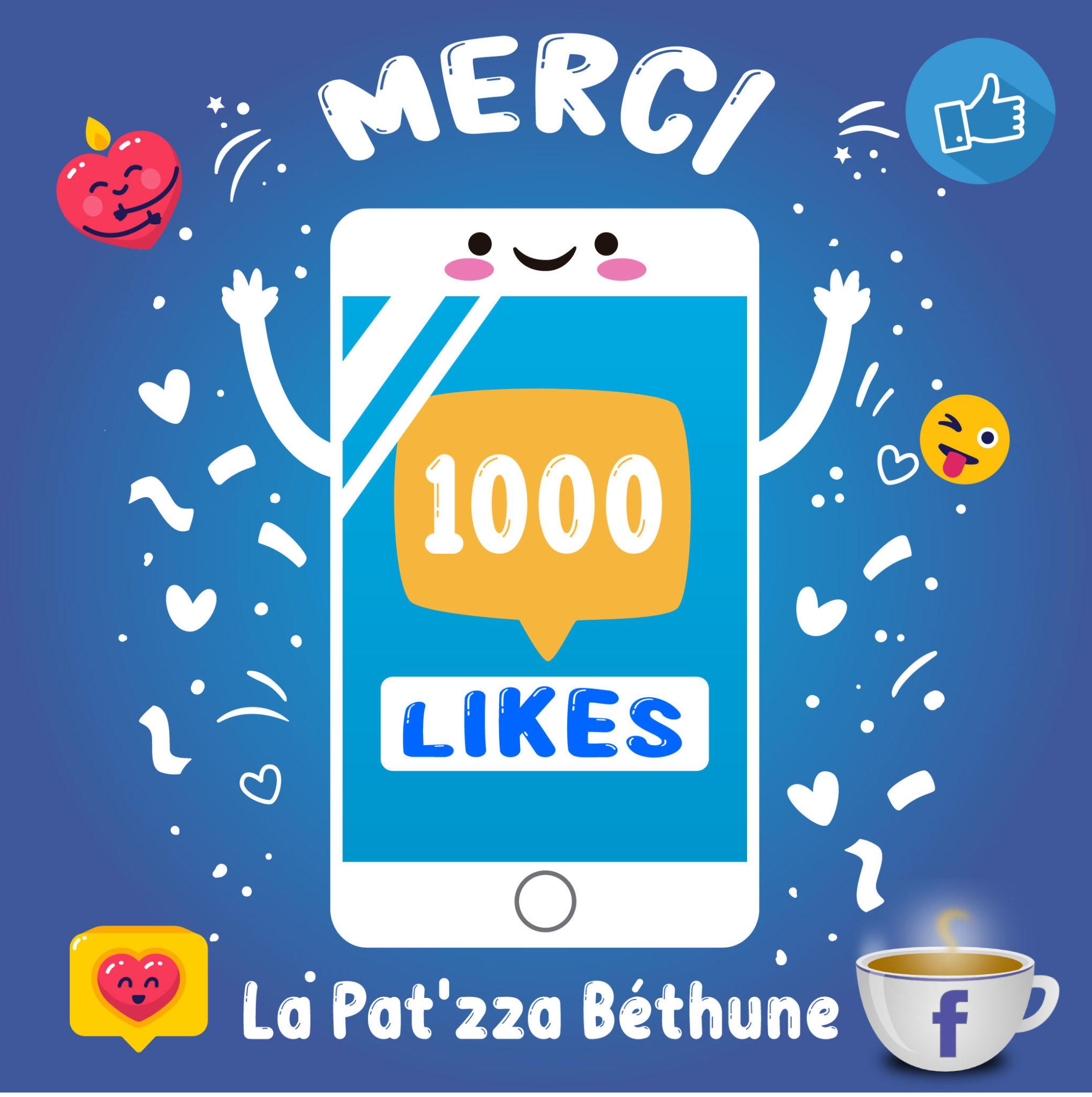 Merci 1000 Likes La Pt'zza